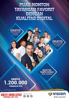 MNC Vision Gratis iuran selamanya Indovision Rantau Prapat