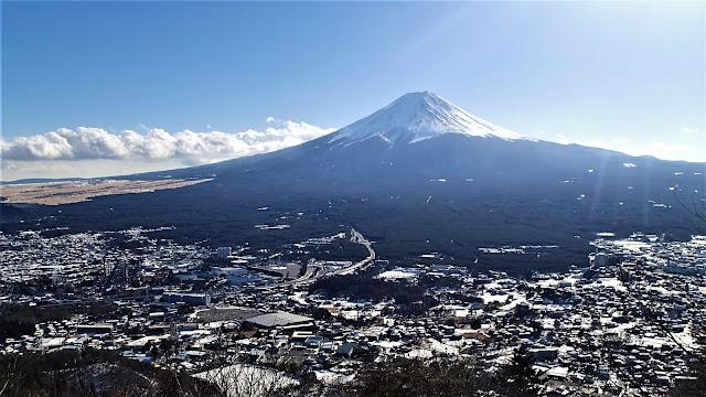 河口湖觀景台富士山