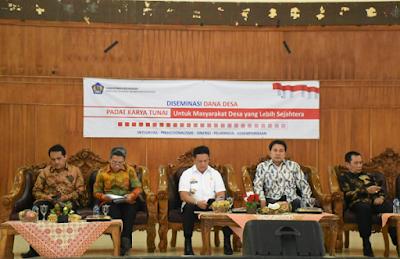 Sekda Lampung Timur Buka Acara Pelaksanaan Kegiatan Diseminasi Dana Desa