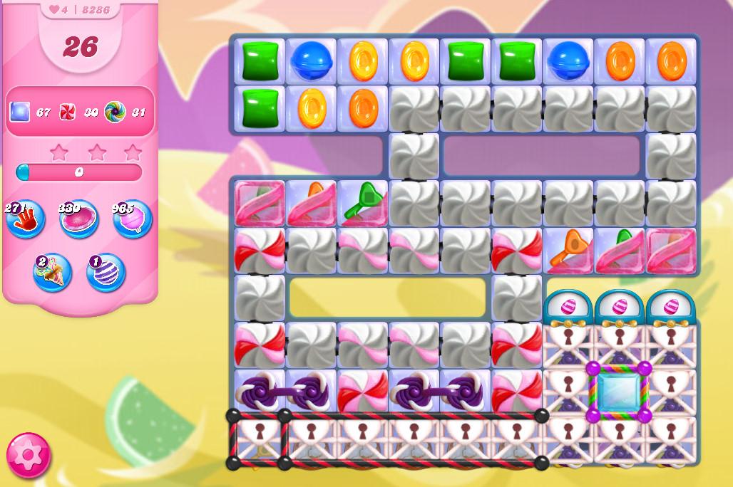 Candy Crush Saga level 8286