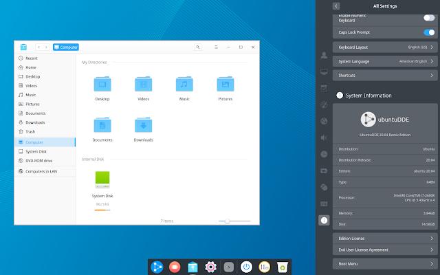 Ubuntu Deepin Desktop Environment 20.04