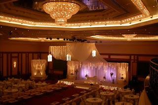 كوشة زفاف رومانسية هادئة