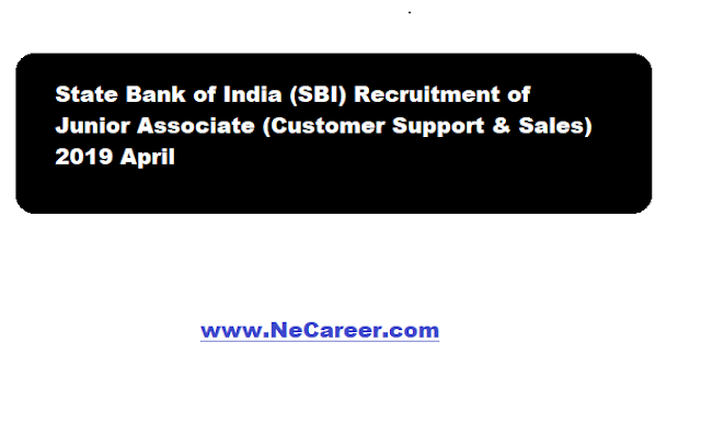 sbi junior assoicate recruitment 2019