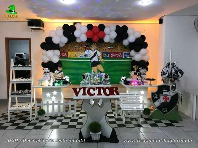 Decoração do Vasco para festa de aniversário - tema de Futebol - Barra - RJ