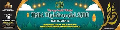 Banner Maulid Nabi Muhammad SAW 1443H PSD