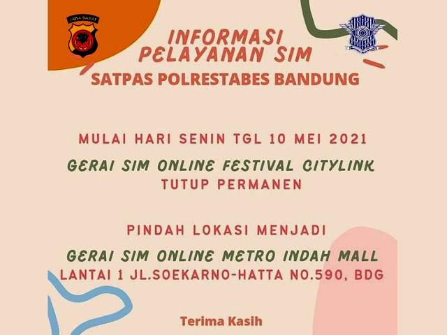Mulai 10 Mei 2021, Gerai SIM Online Festival Citylink Pindah ke Metro Indah Mall
