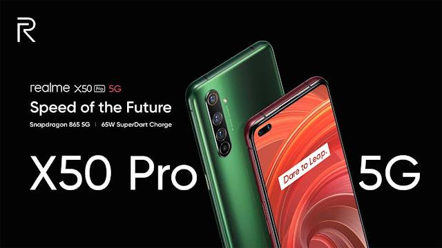 Realme X50 Pro 5G Resmi Diluncurkan dengan Layar 90Hz dan 65W SuperDart Charging
