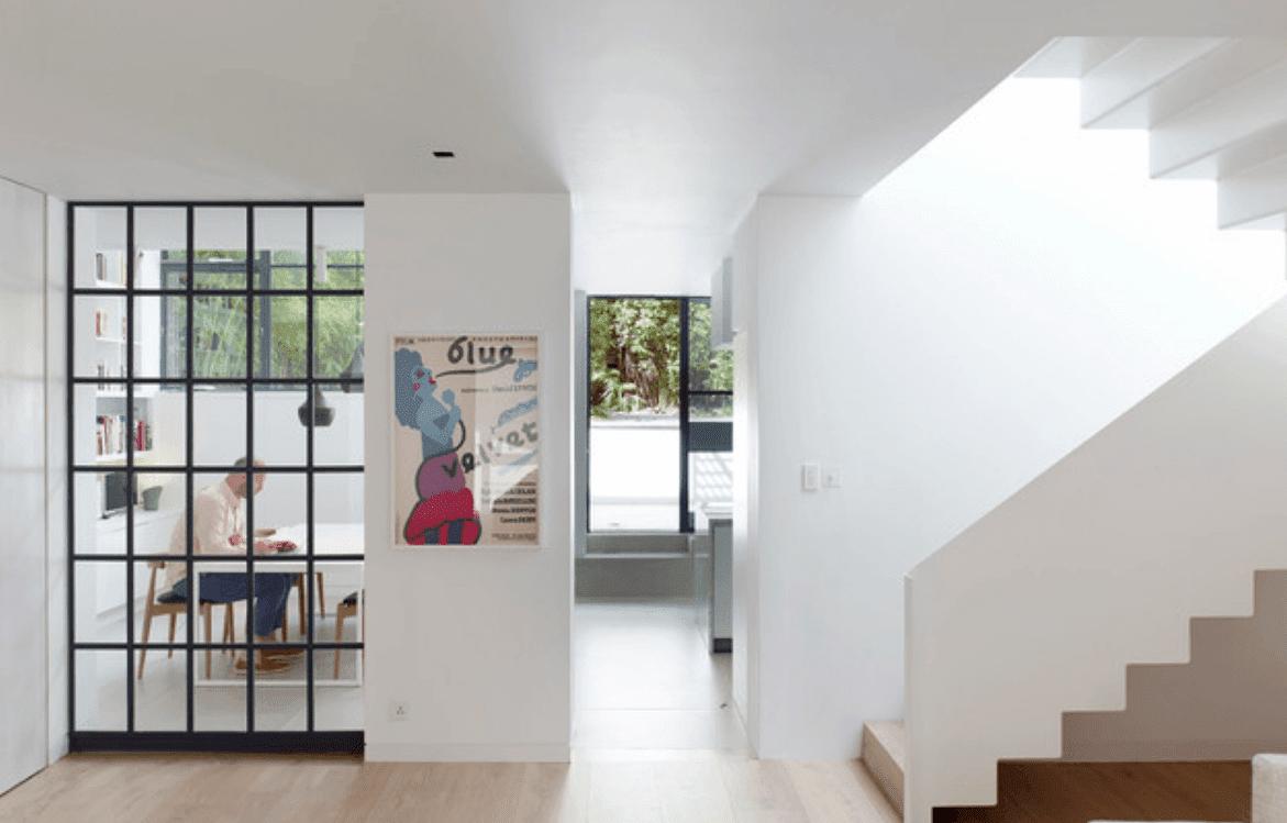 Interior Desain Rumah Minimalis 2 Lantai Dinding Warna Putih