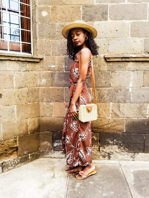 What To Wear To Brunch: Brown Self- Tie Brunch Date Dress