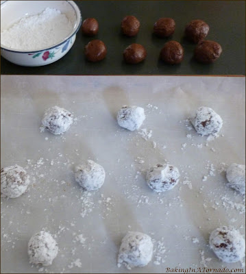 Espresso Truffle Cookies are a perfect holiday treat, whether for home, a cookie exchange or to give out as gifts from the heart.   Recipe developed by www.BakingInATornado.com   #recipe #cookies