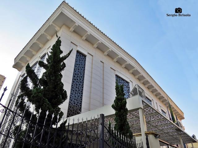 Vista ampla do Edifício Social da Mesquita Brasil - Cambuci - São Paulo