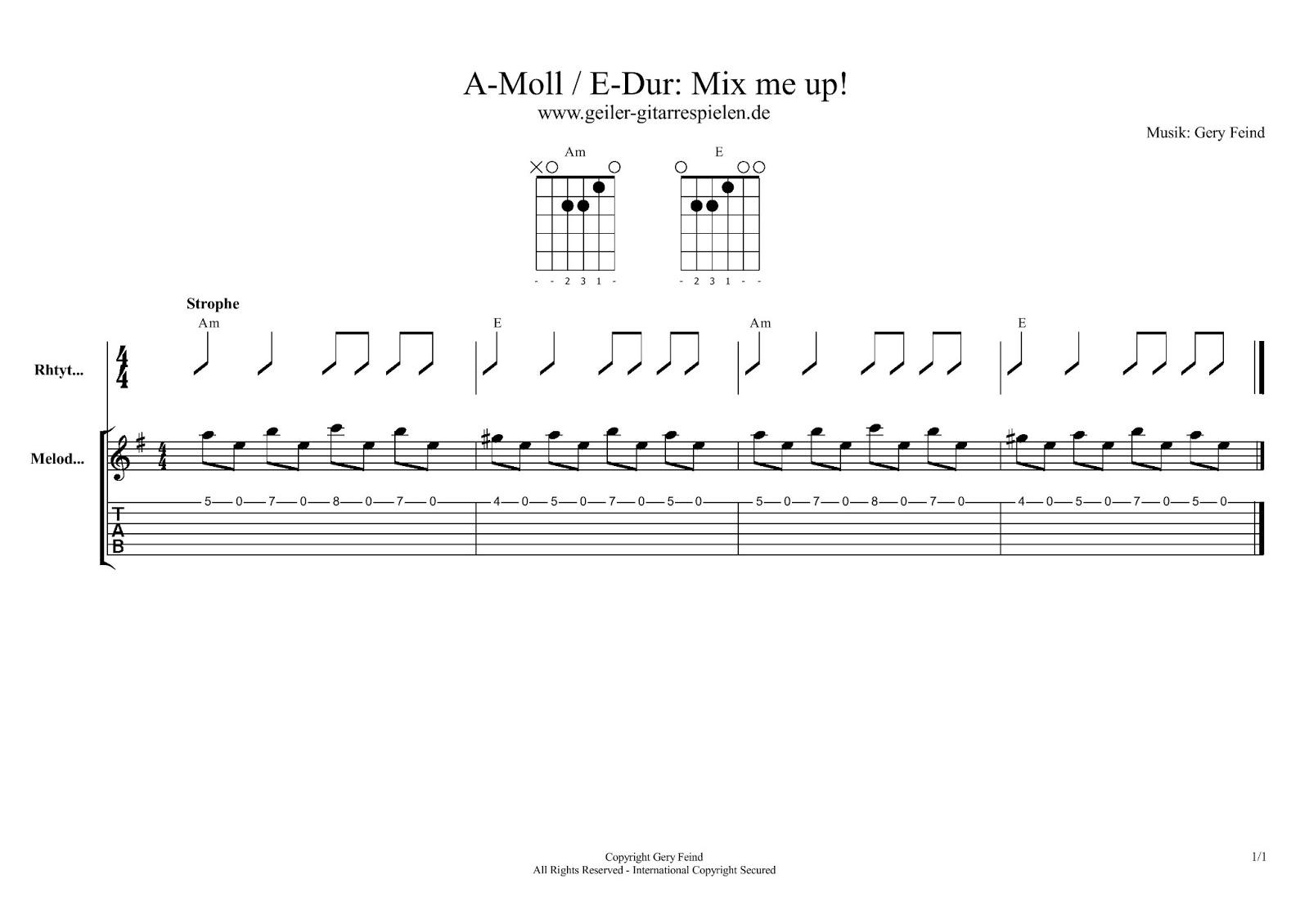 Akkordwechsel Am und E-Dur | Einfach geiler Gitarre spielen!