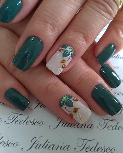 unhas decoradas verdes 8