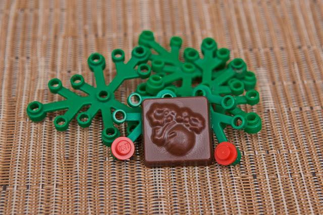 Lego - Advent Calendar - Calendrier de l'Avent - Houx - Holly - Lego - Chocolat au lait
