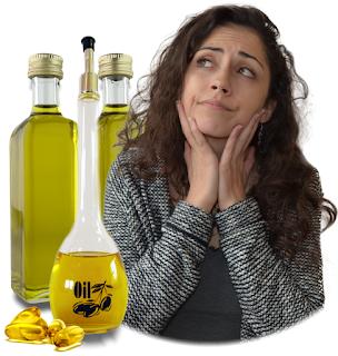 menina com óleos vegetais