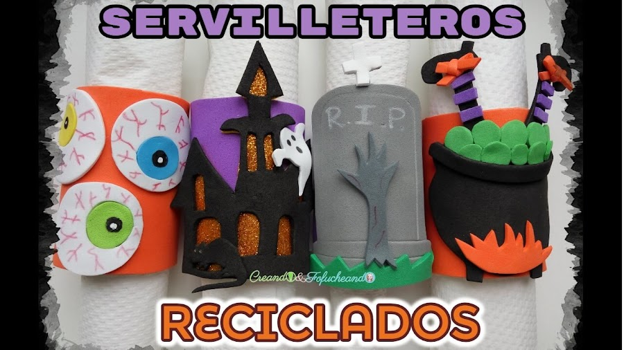 4-servilleteros-reciclados-para-halloween-ideas-fáciles-con-tubos-de-cartón-creandoyfofucheando