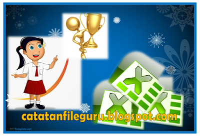 Aplikasi excel cetak piagam penghargaan peringkat kelas dan kartu ulangan siswa