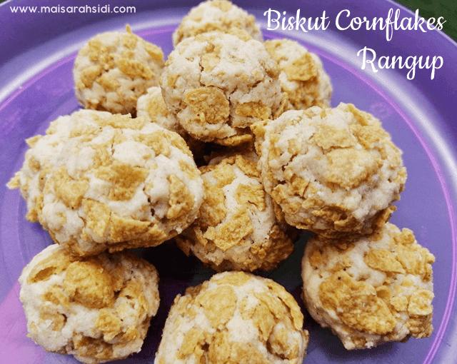 Biskut Cornflakes Rangup, Sedap dan Wangi