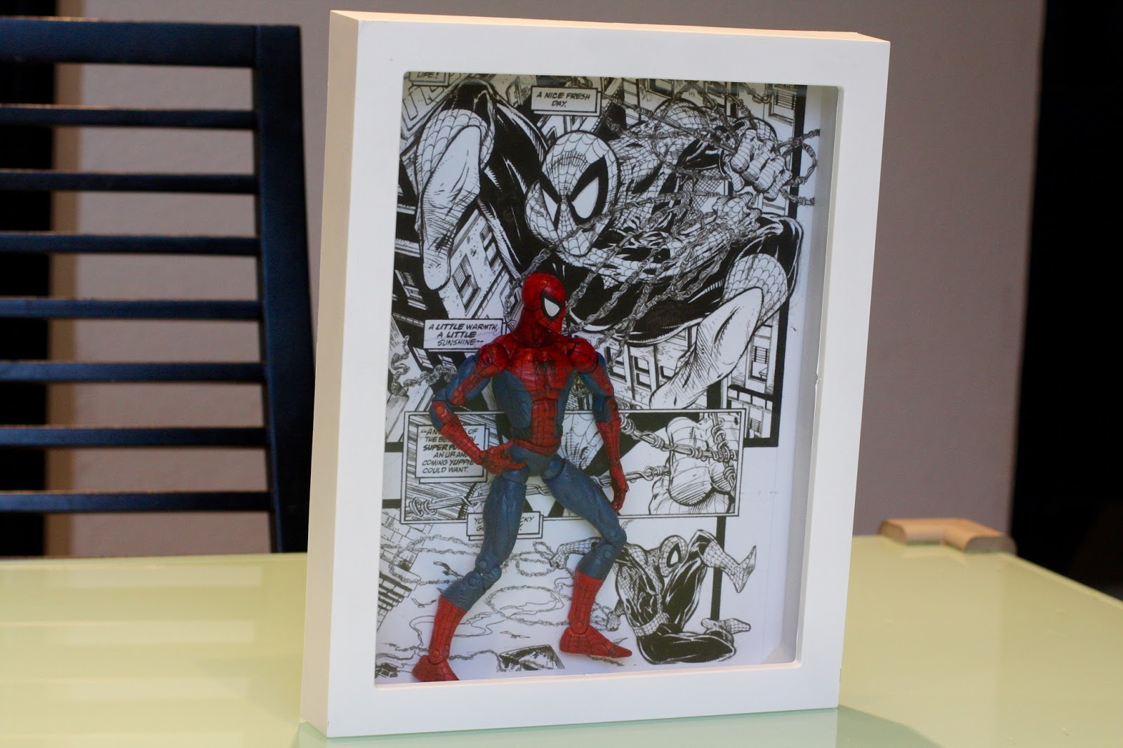 Geek Diy Bam Spider Man Action Figure Shadow Box Display