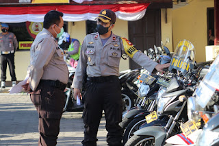 Tingkatkan Pelayanan Masyarakat, Randis Polres Pelabuhan Makassar Diperiksa