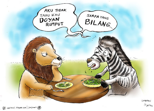 lion cartoon, lion prey
