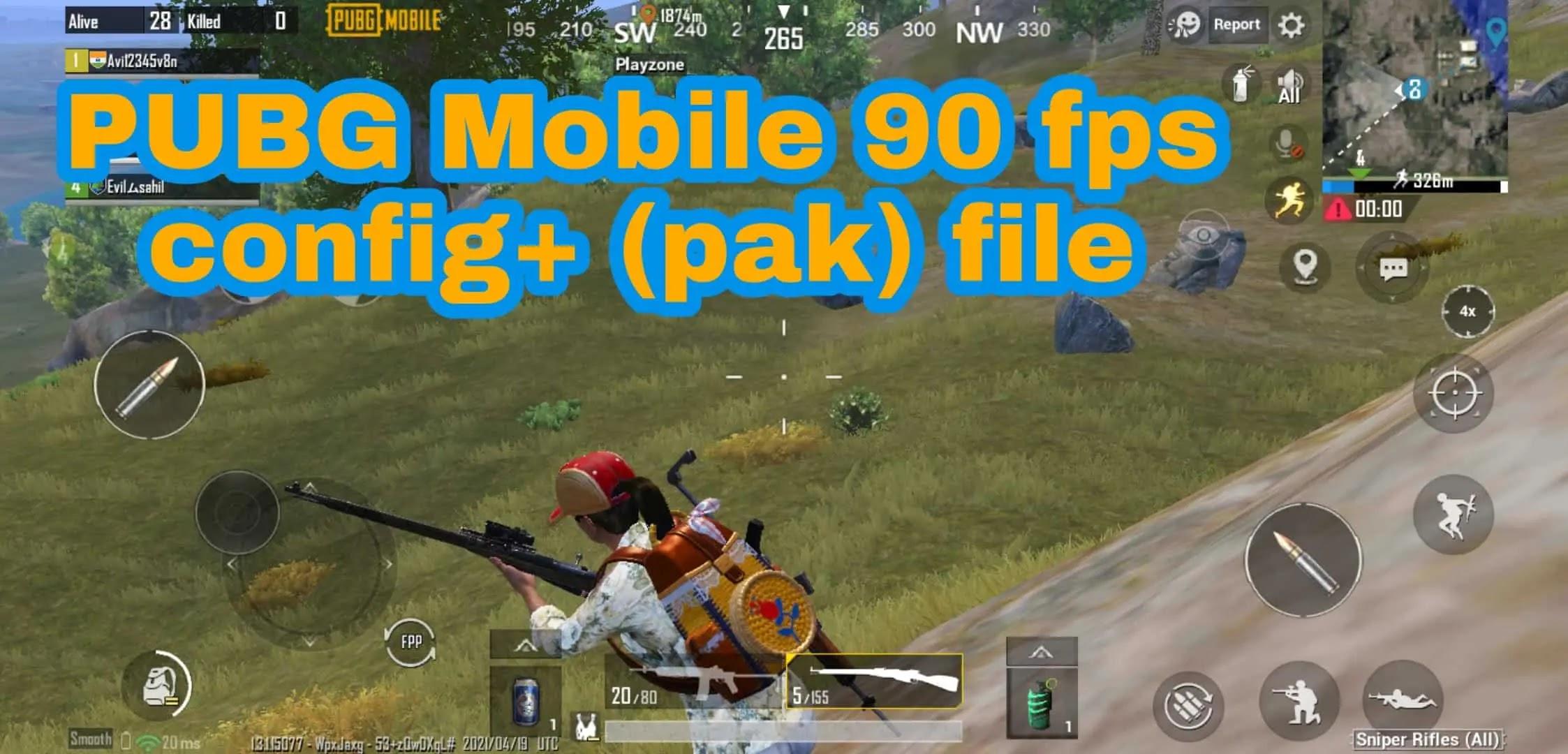 pubg mobile 90 fps config file download
