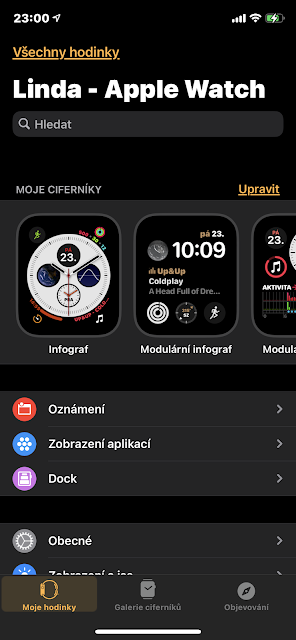 Aplikace Watch v iPhone