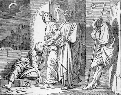 """""""Peter Released from Prison by an Ange"""" from Treasures of the Bible - Early Church"""