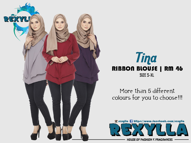 rexylla, ribbon blouse, tina collection