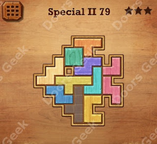 Cheats, Solutions, Walkthrough for Wood Block Puzzle Special II Level 79