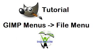 GIMP File Menu