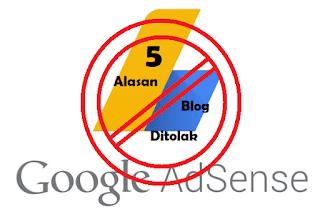 5 hal ini bikin blog kamu di tolak adsen blogger
