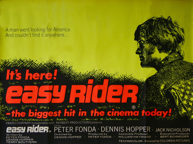Quentin Tarantino's Swinging Sixties - Easy Rider Film Poster - Dennis Hopper, 1969