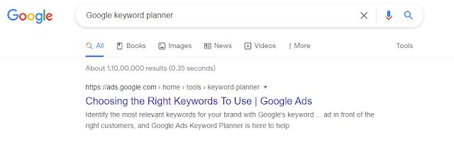 PPC Agency Google Keyword Planner