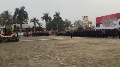 Polres Tanggamus Gelar Upacara Hari Bhayangkara ke 73 di Pringsewu