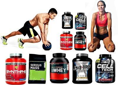 Hombre y mujeres que toman proteínas aumentan su masa muscular