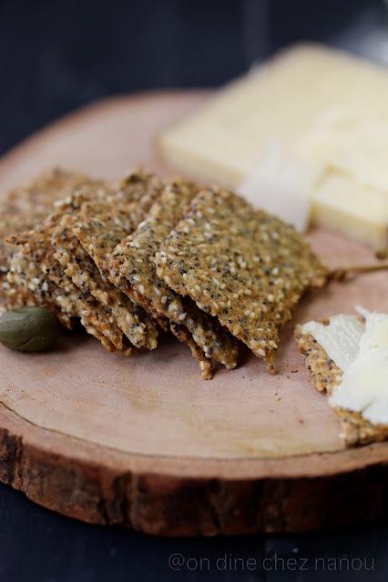crackers, sans blé , petit épeautre , graines , apéritif , croustillant , facile