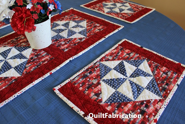 Holiday Star patriotic version by QuiltFabrication