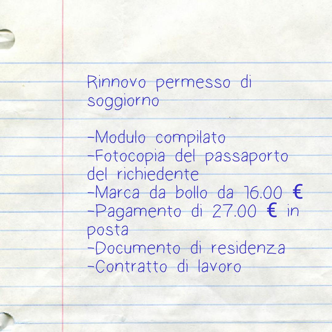 Beautiful Documento Di Soggiorno In Trattazione Images - Idee ...