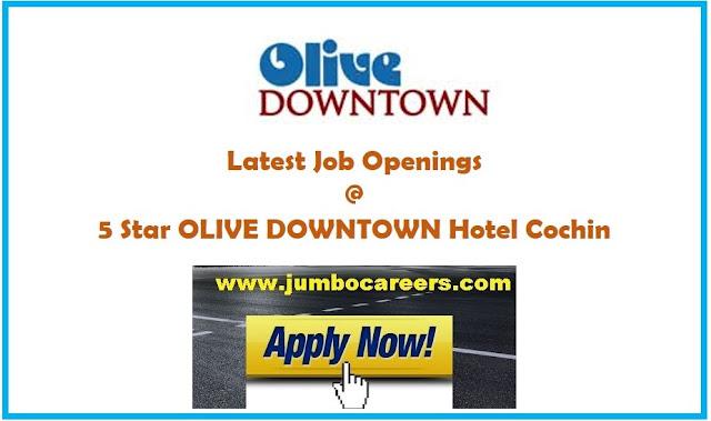 hotel jobs kochi, star hotel jobs kochi, 5 star hotel job openings in cochin