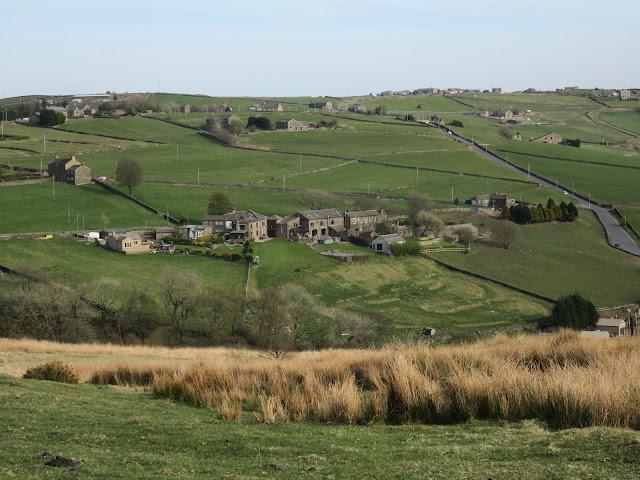 View across rural Calderdale 23rd April 2021.