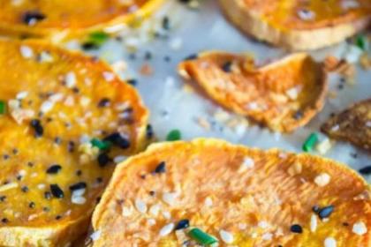 Everything Seasoning Roasted Sweet Potatoes