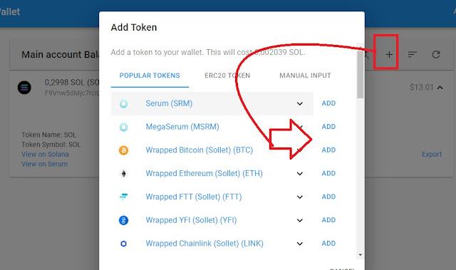 Hương dẫn add token trên SOL