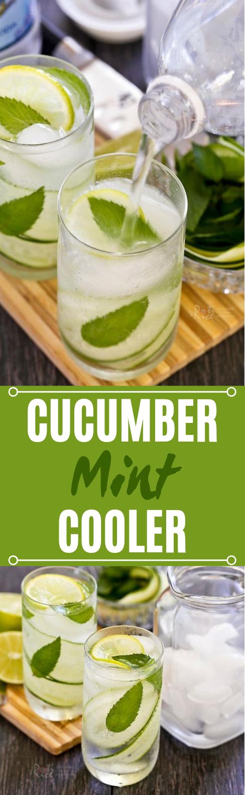 Cucumber Mint Cooler #summer #drinks