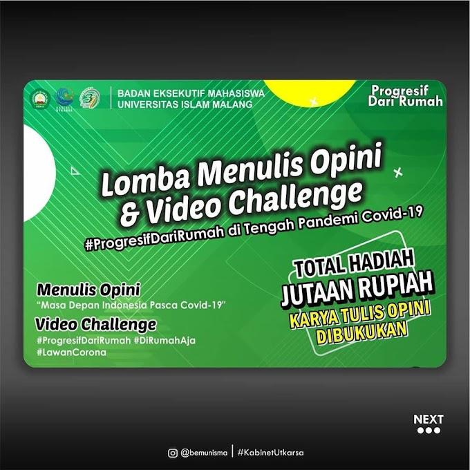 Lomba Menulis Opini dan Video Challenge    Zahrapedia Info 2020