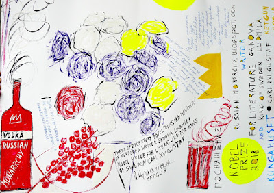 Рисунок - Посвящение Королю Швеции Карлу XVI Густаву и Альфреду Нобелю / Painting - Dedicated to King of Sweden Carl XVI Gustaf and Alfred Nobel. Авторы Цуриков Илья & Ket Gun.