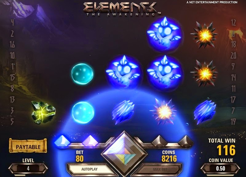 Elements Video Slot Screen