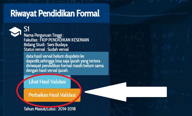 gambar Cara Perbaikan Edit Data Verval Ijazah Guru di Info GTK