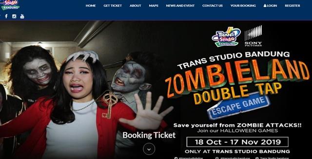 Wahana Zombieland Double Tap Escape di Trans Studio Bandung - transstudiobandung.com