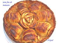 Tarta fina de manzana con masa de aceite